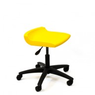 PosturaPlus Task Stool Poly Casters - Sun Yellow-Display