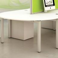 Bench Semi Circular End Table