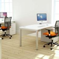 Bench Squared Deskits Rectangular Single Desk