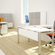 Bench Squared Fixed Top 3 Angular Desk