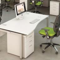 Bench Wave Single Desk