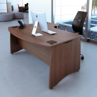 EX10 BOW FRONTED DESK