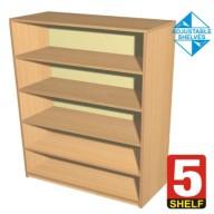 5 Shelf Bookcase - 600mm wide