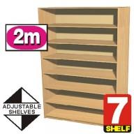 7 Shelf Bookcase (2 metre high) - 600mm wide