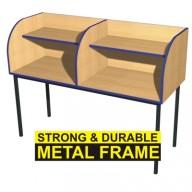Double Metal Framed Study Carrel