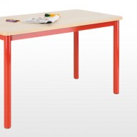 Premier Tables  This table range offers a refreshing choice of 50mm round fully welded bright coloured frames, with wipe clean durable tops.  • All 6 EN1729 heights available  • Stain resistant wipe clean 25mm tops as standard   • Fully welded frame   • MDF edge supplied as standard, coloured PVC and PU edge available.