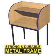Single Metal Framed Study Carrel