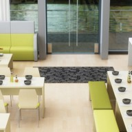 This simple bench seating and table range shows off minimalistic design based on distinctive clean lines. Available in three table heights and four lengths the timeless collection is ideal for both office and leisure environments. It suits café style interiors where communal dining is the trend, or corporate meeting and hot-desking touch down areas. Deck has three leg options to choose from, Metal frame which can be EPPC coated, Panel End or Inset which can be finished in a wide choice of laminates or veneer. Each table and bench unit can be specified to individual preference with a classic wood effect or a more fun, vibrant two tone colour.