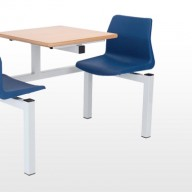 2 Seater Fast Food Unit Our comprehensive range of fastfood seating units provide both a functional and robust solution for canteen areas.2 Seater Fast Food UnitOur comprehensive range of fastfood seating units provide both a functional and robust solution for canteen areas.• 4 styles of seat option.• All frames are fully welded from 50mm sq tube for durability. • All tops are 25mm MDF with a wipeable laminate top.  • Floor fixing brackets are available. • Fabric or wipeable vinyls are available. • Seat Pads are available for P1 and P5 seats.
