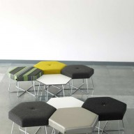 pollen-stool-and-low-table-wire-base-buttoned-and-plain-upholstery-copy