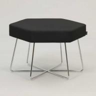 pollen-stool-on-chrome-base-upholstered-in-Camira-Intervene-Texture